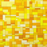 Toy bricks color background - yellow Royalty Free Stock Image