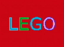 Toy Bricks Lego Text Effect Fotografia Stock Libera da Diritti