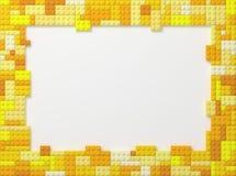 Toy Bricks Picture Frame - amarillo Foto de archivo libre de regalías