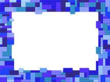 Toy Bricks Picture Frame - azul Fotografía de archivo