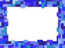 Toy Bricks Picture Frame - bleu Photographie stock