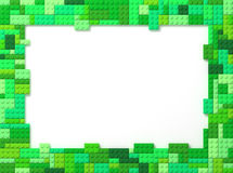 Toy Bricks Picture Frame - Green Royalty Free Stock Image