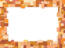 Toy Bricks Picture Frame - orange Stock Photos