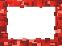 Toy Bricks Picture Frame - rojo Foto de archivo