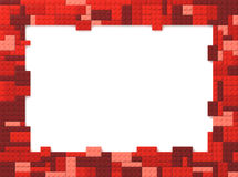 Toy Bricks Picture Frame - rouge Photo stock