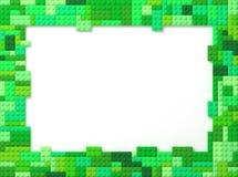 Toy Bricks Picture Frame - verde Imagen de archivo libre de regalías