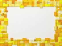 Toy Bricks Picture Frame - Yellow Royalty Free Stock Photo