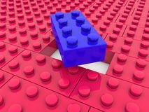 Toy bricks in red and blue colors Stock Image