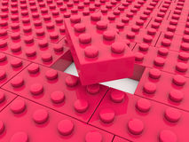 Toy bricks in red color Royalty Free Stock Photography