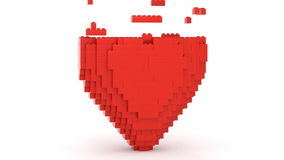 Toy Bricks Red Heart stock video