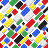 Toy Bricks Repeating Background Fotografia Stock
