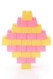 Toy bricks shape like a diamond Royalty Free Stock Images