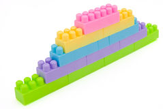 Toy bricks wall Stock Images