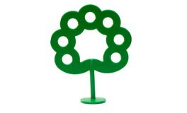 Toy bright plastic green tree Royalty Free Stock Images