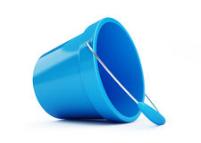 Toy bucket blue on a white background. 3D illustration Stock Photos