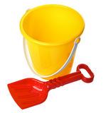 Toy Bucket And Scoop Royalty Free Stock Images