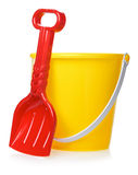 Toy Bucket And Scoop Stockfotografie