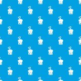 Toy bucket and shovel pattern seamless blue Stock Images