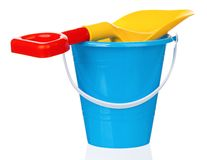 Toy bucket and spade Royalty Free Stock Photos