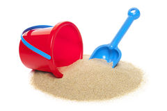 Toy bucket and spade Stock Photo