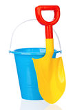 Toy bucket and spade Royalty Free Stock Images