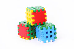Toy building blocks Royalty Free Stock Photos