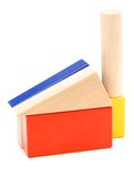 Toy building blocks. Isolated on a white background royalty free stock photo