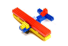 Toy Building Blocks - An Aeroplane Royalty Free Stock Photography