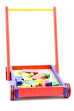 Toy building blocks in a cart Royalty Free Stock Photography
