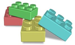 Toy building blocks. An illustration of a group of colorful toy building blocks vector illustration
