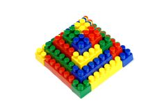 Toy building blocks - a pyramid Stock Photo