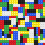 Toy Building Bricks Background Photos libres de droits