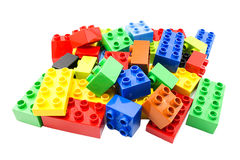 Toy building colorful blocks. Royalty Free Stock Images