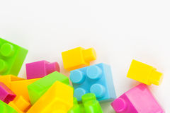 Toy building colorful blocks Stock Image