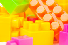 Toy building colorful blocks Stock Photography