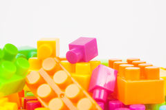 Toy building colorful blocks Stock Images