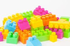 Toy building colorful blocks Royalty Free Stock Images