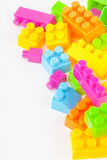 Toy building colorful blocks Stock Photo