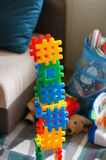 Toy building parts Royalty Free Stock Photos