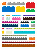 Toy building pieces in vector Royalty Free Stock Photos
