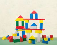 Toy buildings Royalty Free Stock Image