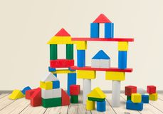 Toy buildings Royalty Free Stock Photos