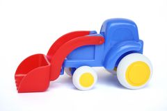 Toy Bulldozer. A toy bulldozer made by plastic Royalty Free Stock Photos