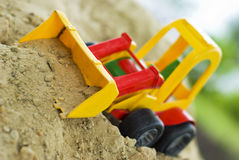 Toy Bulldozer Royalty Free Stock Photos