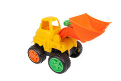 Toy, bulldozer isolated Stock Photography