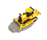 Toy bulldozer Royalty Free Stock Photography