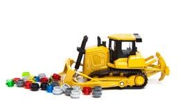 Toy bulldozer Stock Photo