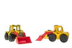 Toy Bulldozers Royalty Free Stock Photos