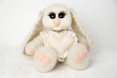 Toy Bunny with heart Stock Image