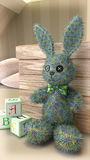 Toy Bunny in the Nursery Royalty Free Stock Photography